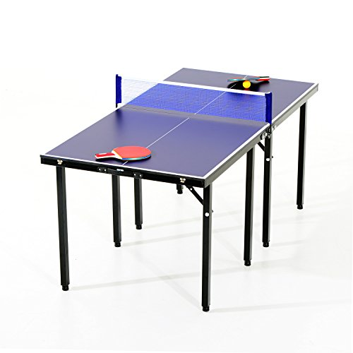 Aosom 5' Folding Indoor/Outdoor Table Tennis Table Set