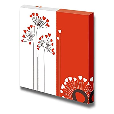 Canvas Prints Wall Art - Vector Flowers Love Card - 12