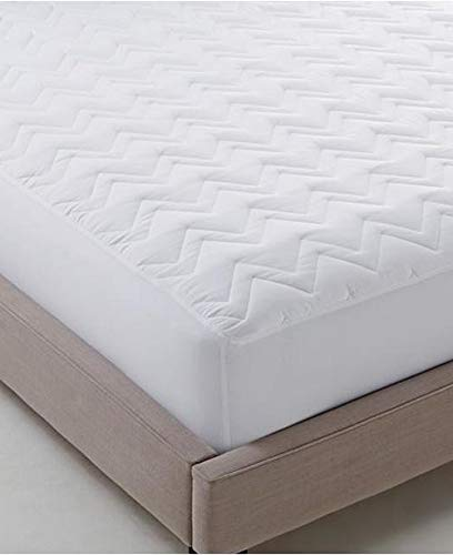 Martha Mattress Pad - Martha Stewart Super Soft Squilted California -King Size Classic Mattress Pad-Mattress Cover Standard Pocket Fits up to 18