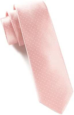 The Tie Bar 100% Woven Silk Mini Dots Light Pink Tie