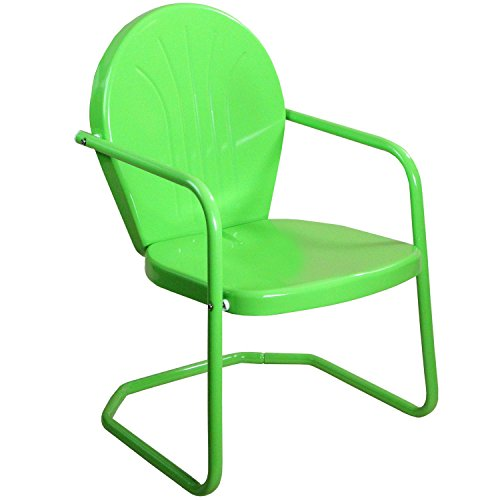 LB International 34″ Lime Green Retro Metal Outdoor Tulip Chair Review