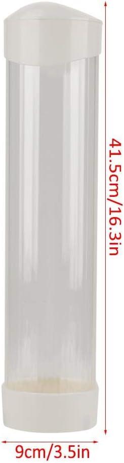 bianca Dispenser per bicchieri di carta dispenser per tazze dacqua antipolvere per bicchieri in plastica//biodegradabili.Misura per diametro esterno della tazza /≤7,5 cm.60-80 tazze