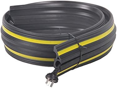 length: 6 m black with yellow reflector stripes Pro/²Tect Hose and Cable Bridge BS-NCOP-10 traffic brige 3 cable tunnels protective cover made of sturdy PVC cable ramp