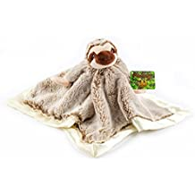 """Treasure Trades Stuffed Sloth Lovey Soother Plush Security Blanket 12""""x12"""", Slothey"""