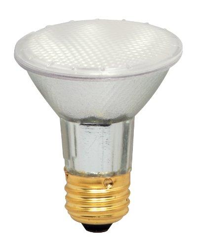 Satco S4208 39 Watt (50 Watt) 500 Lumens PAR20 Halogen Food 42 Degrees Frosted Light Bulb, Dimmable