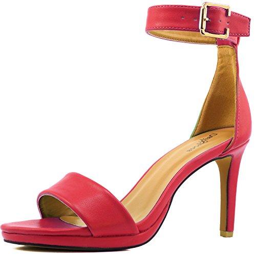 Women's Open Toe Ankle Buckle Strap Platform Evening Dress Casual Sandal Shoes 8.5