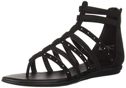 Aerosoles Women's NUCHLEAR Flat Sandal, Black Fabric, 9.5 M - Gladiator Sandals Strap Flat