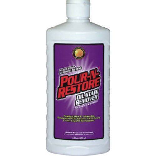 Pour n restore concrete and masonry stain remover ebay for Concrete stain remover