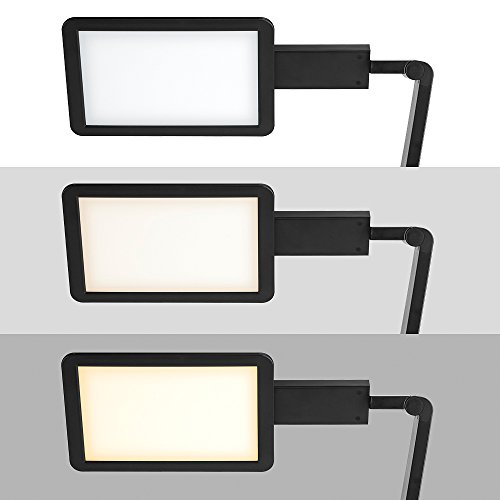 LED Desktop Lamp Saicoo Desk lamp with Large LED Panel, Seamless Dimming-Control of Brightness and Color Temperature, an USB Charging Port by saicoo (Image #3)