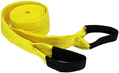 HFS (R) 3 Inch 20 Foot Tow Strap 30000 Pound CapacityReusable Storage Strap