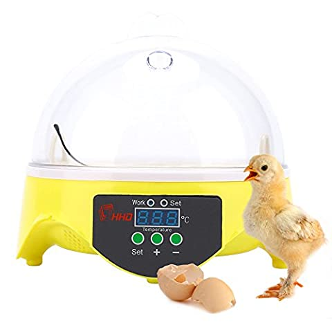 7 Egg Automatic Incubator For Eggs Broedmachine Mini Egg Chicken Duck Quail Hatcher Pigeon Birds Electronic Display - 20 User Lab Pack