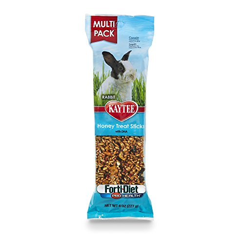 41jh2 oHPjL - Kaytee Forti-Diet Pro Health Rabbit Treat, Honey Treat Stick Value Pack, 8-Ounce