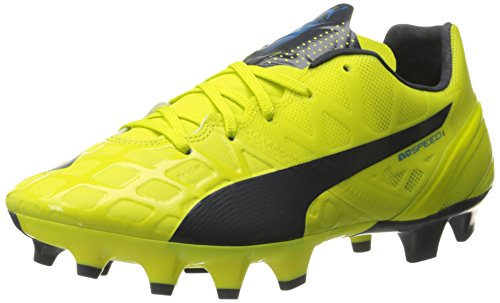 PUMA Women's Evospeed 1.4 Firm Ground WN's Soccer Shoe, Sulphur Spring/Total Eclipse/Electric Blue Lemonade, 8.5 B US by PUMA