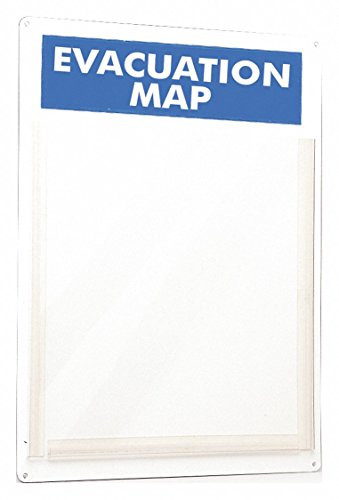 Brady Evacuation Map Holder, 15 x 11 in. ()