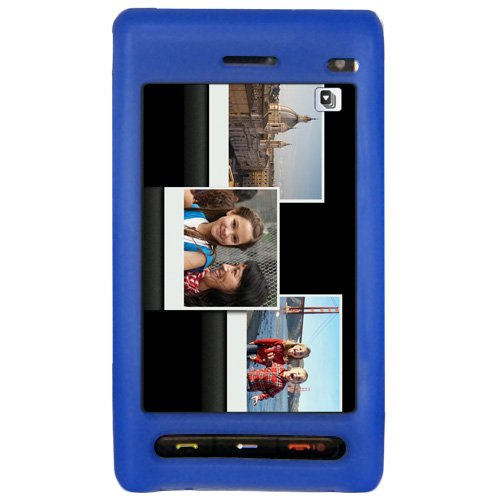 Amzer Silicone Skin Jelly Case for Samsung Memoir T929 - Sky Blue ()