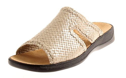 Ganter Scarpe Beige lederpantolette Zoccoli Ciabatte Monica Cuoio Pantofole di Beige r7rd5wx8