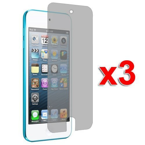 3X Anti Glare Matte LCD Screen Protector Cover Films for New iPod Touch 5th Generation 5G 5 (Screen Lcd Ipod Touch 5g)