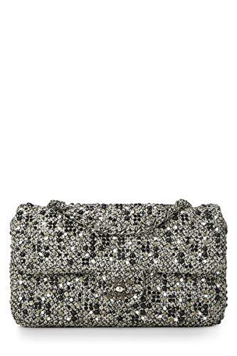 CHANEL Grey Tweed Classic Flap Medium ()