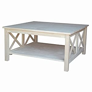International Concepts OT-70SC Hampton Square Coffee Table, Unfinished