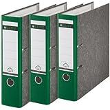 Leitz 310305055 - Juego de 3 archivadores (A4), color verde y gris
