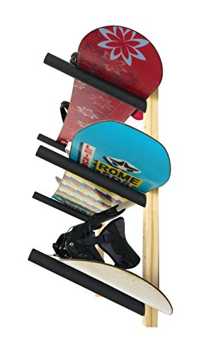 3 Snowboard Rack | Wood Wall Storage Mount | StoreYourBoard