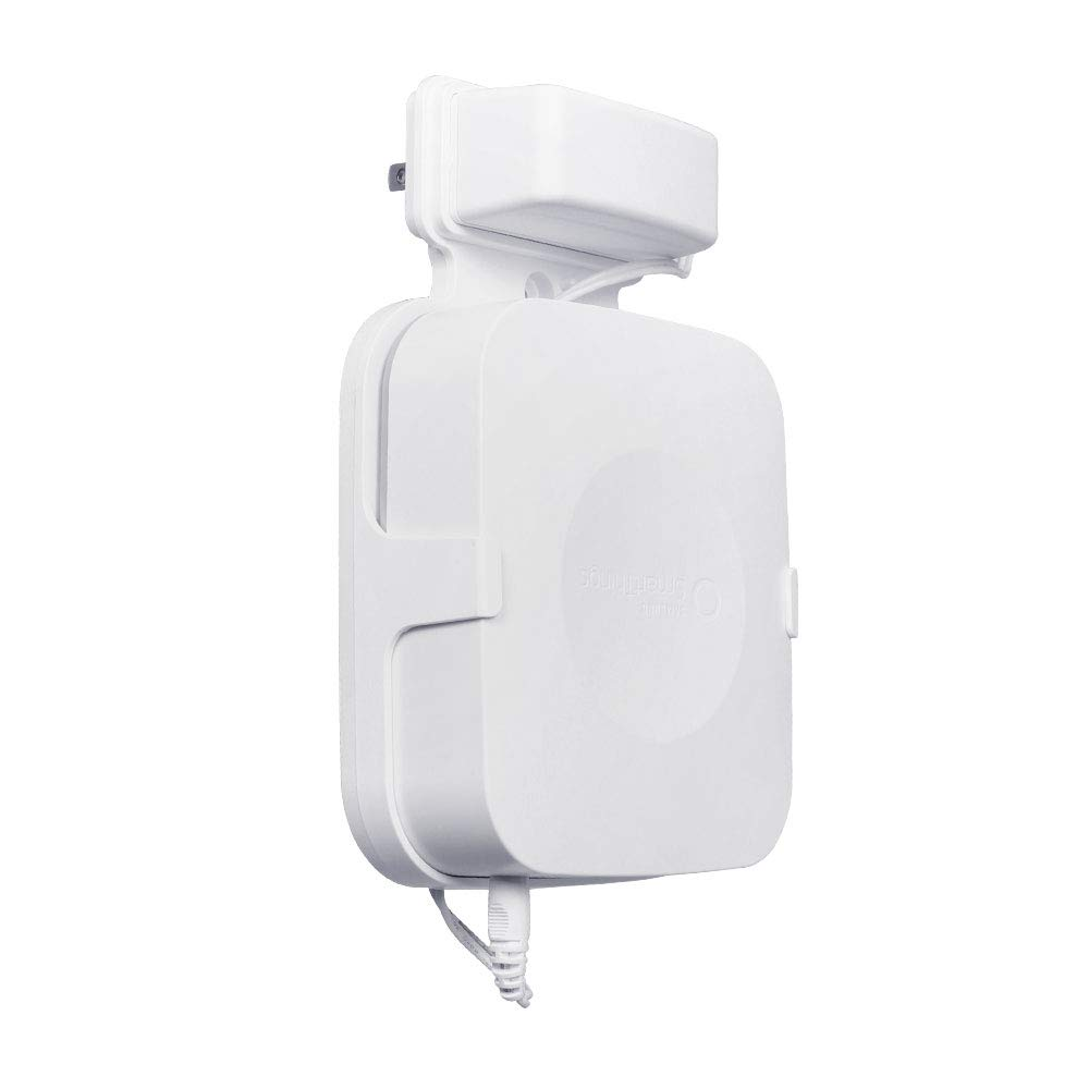HOLACA Outlet Wall Mount Hanger Holder Stand for Samsung SmartThings Smart Home Hub V2 with Clean Appearance and No Cord Clutter