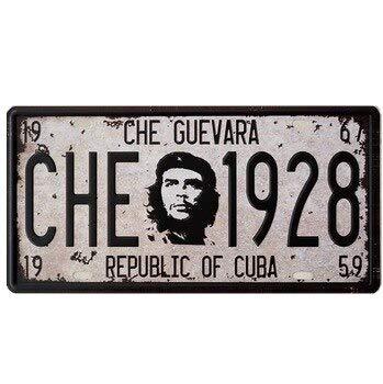 DiiliHiiri Nummernschild Retro-Stil Che Guevara Heimdekoration