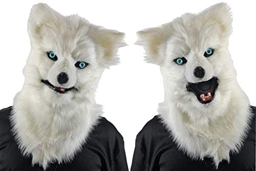 Morris Costumes Animated Animal White Wolf