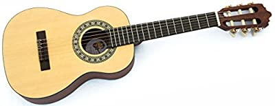 QC Quality 1/4 size mini classical acoustic guitar for kids ages 3-7 & travel
