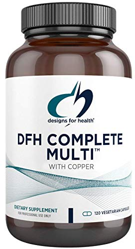 Designs for Health DFH Complete Multi with Copper - Multivitamin, Multimineral Supplement with Folate, Immune Support Vitamins Zinc + 1000 IU Vitamin D - No Iron (120 Capsules)