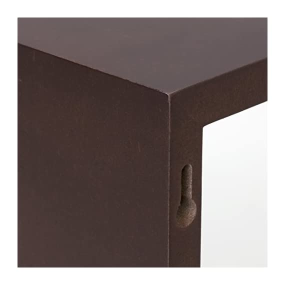 Kiera Grace Cubbi Contemporary Floating Wall Shelves, 5 by 5-Inch, 7 by 7-Inch, 9 by 9-Inch, Espresso, Set of 3 - 3-piece wall-mounted shelf set offers a clean, contemporary display style MDF construction in three sizes: small, medium, and large All cubes are 4 inches deep - wall-shelves, living-room-furniture, living-room - 41jh4Vzi5VL. SS570  -