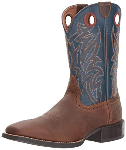 ARIAT Mens Sport Sidebet Western Boot Performance 10 D Distressed Brown