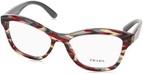 Prada Women's PR 29RV Eyeglasses Sheaves Bordeaux Green - 2017 Optical Glasses Mens