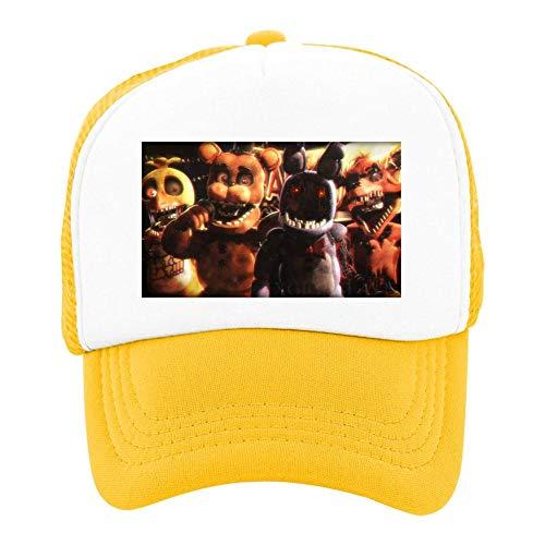 EThomasine Kids Girls Boys Mesh Cap Trucker Hats Remember Us Five Nights Adjustable Hat Yellow by EThomasine