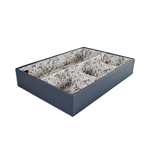 Raymond Waites 4-Section Fashion Jewelry Organizer, Divider Desk Tray, for Drawer, Earrings, Bracelets, Watches, Accessories from Raymond Waites