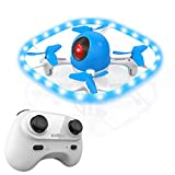Cheap Drones for kids,SANROCK Colorful LED Lights Drone, U51 Hovering Quadcopter Headless Mode Helicopter for Beginners, 2.4Ghz 6-Gyro 4 Channel Remote Control RTF, RC Toy for Kids Boys Girls Gifts