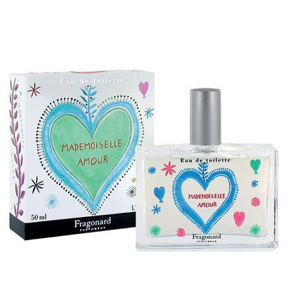 MADEMOISELLE AMOUR eau de toilette (50ml) Refillable natural spray by FRAGONARD 100% authentic original from PARIS (Jasmine Raspberry Eau De Toilette)