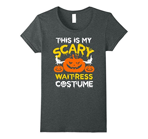 Womens This is My Scary Waitress Costume Halloween T-shirt  Medium Dark (Scary Waitress Halloween Costume)