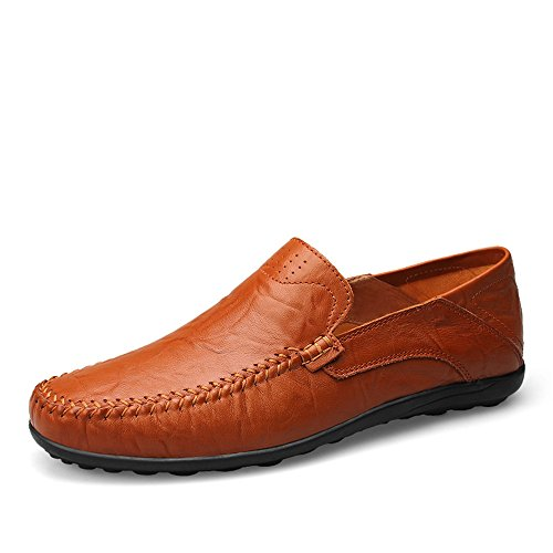 alla On Morbidi Brown Moda Scarpe Slip Design Uomo Slipper Cricket Driving Mocassini da da Loafer Casual di Red 1AfWIx
