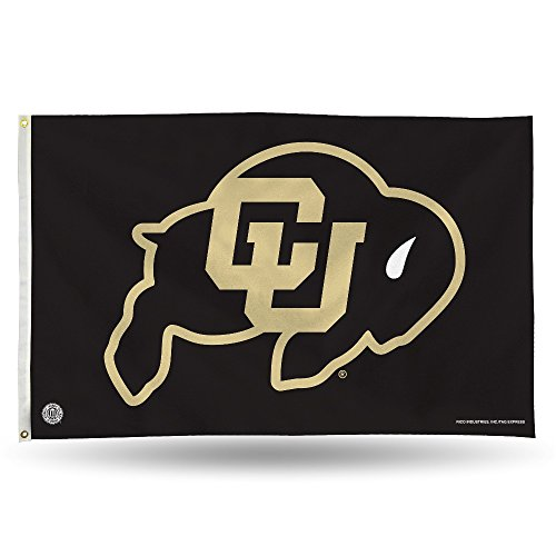 Rico Industries NCAA Colorado Buffaloes 3-Foot by 5-Foot Single Sided Banner Flag with Grommets