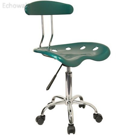 Vibrant Green and Chrome Computer Task Chair with Tractor Seat [LF-214-GREEN-GG] - Echowalt update