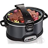 Hamilton Beach 6-Quart Programmable Slow Cooker, Charcoal
