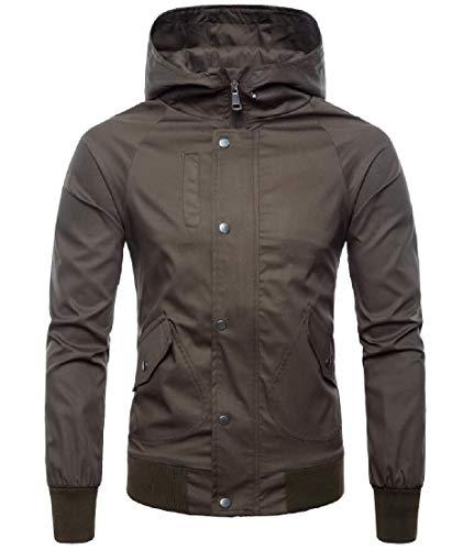 Hoodie Jacket Cotton 1 Zipper Sleeve Coat TTYLLMAO Casual Long Men xFOPqt1OUw