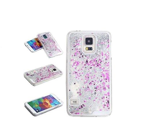 FUN CASE silber für Iphone 6 Plus Handy Cover Hülle Case Glitzer Sterne Flüssig Sternenstaub Hard Case