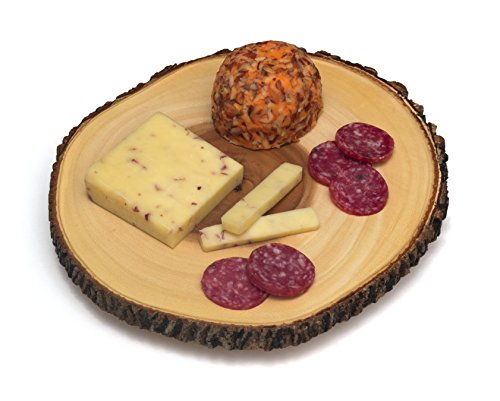 Lipper International 1030 Acacia Tree Bark Footed Server for Cheese, Crackers, and Hors D'oeuvres, Large by Lipper International (Image #3)