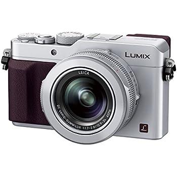 Panasonic Lumix DMC-LX100 Digital Camera, 12.8MP, 3.0-Inch Display, 24-75mm Leica DC Vario-Summilux f/1.7-2.8 Lens, 4K Ultra HD Video, HDMI/USB, Wi-Fi, NFC (Silver)