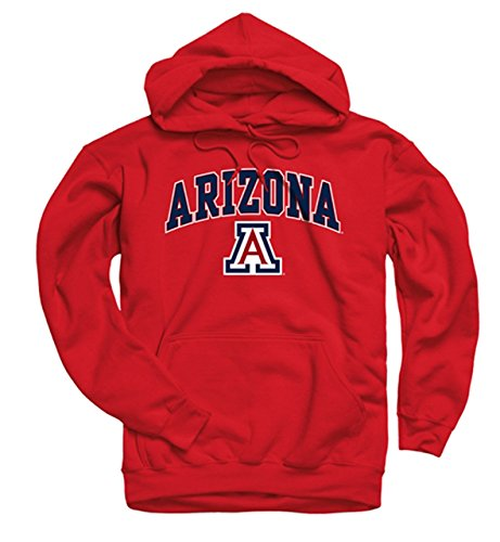 Arizona Wildcats Adult Arch & Logo Gameday Hooded Sweatshirt - Red , X-Large - Wildcats Dual Stand
