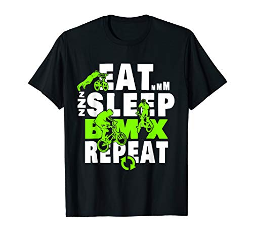 Eat Sleep BMX Repeat T-Shirt Funny Bicycle Gift ()