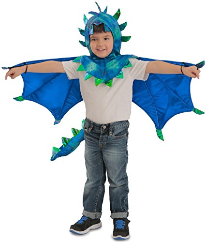 Princess Paradise Kids Sully Dragon Hooded Cape Costume, X-Small, Blue ()