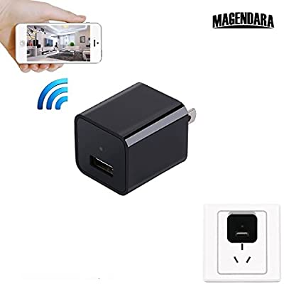 MAGENDARA Wireless Plug HD 1080P WIFI Hidden Spy Camera(Supports 128GB SD Cards) by MAGENDARA